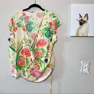 Jam's World Vintage Floral Wrap Top